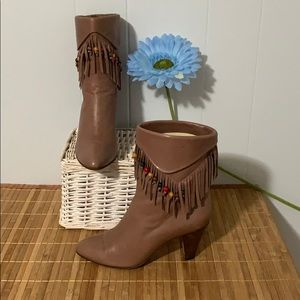 Casadei Fringed Leather Boots
